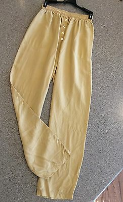 ⛵️ JIGSAW VTG Pants High Waist Silky Parachute Loose Fit Pockets Goldenrod XS-S