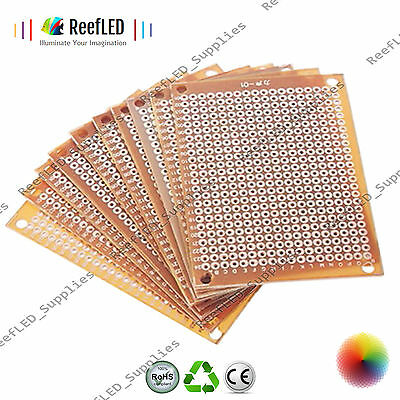 New DIY PCB Universal Prototype Paper Matrix Circuit Board Stripboard 5x7cm (UK)