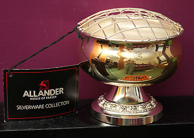 ALLANDER from House of Fraser silver plated Rose Bowl with tags