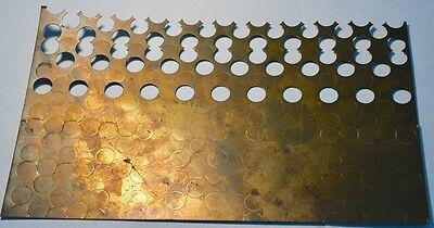 Foreign Coin Planchet Strip 15'' X 9'' with Partially Punched Blanks in Strip