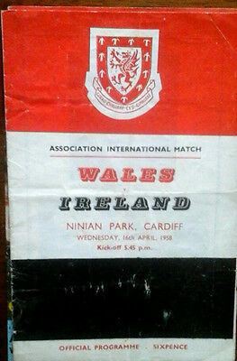 Wales V Northern Ireland 16/4/1958 International