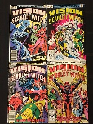 Vision And The Scarlet Witch Complete Run Set #1-4 Marvel Comics (1982) Lot 4