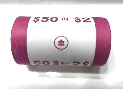 2005 $2 Canada Original Mint Paper Wrapped Roll Of 25 Pcs!