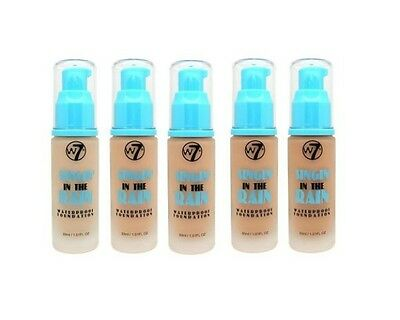 W7 Singin' In The Rain Liquid Foundation - Waterproof - Various Shades