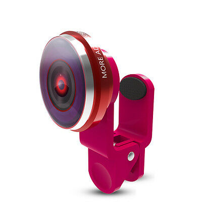 Mobile Phone Macro Wide Angle Lens Clip-on 235° Camera For iPhone Samsung Huawei