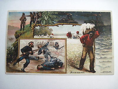 1892 Trade Card - Arbuckle Bros. Coffee w/ Moments in Mississippi History *