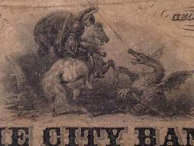 -1854 $2 The City Bank Augusta, Ga St. George & Dragon -(Bank of Western Canada)
