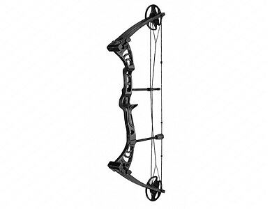 Black Monster Adult Archery Hunting Right Handed Compound Bow and Arrows