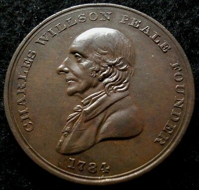 1821 Peale's Museum Admission Token CHOICE High Grade