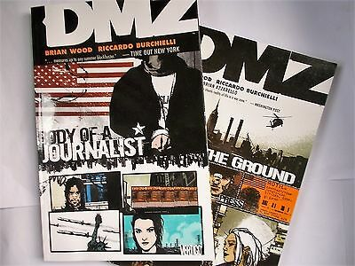 DMZ X 2 Graphic Novels Body of a Journalist/On the Ground Brian Wood  D C Comics