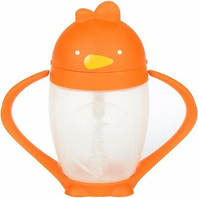 NEW Lollaland Lollacup - Infant/Toddler Sippy Cup with Straw - Happy Orange