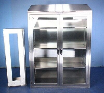 2011 Getinge TORSC48 Stainless Steel Medical Instrument Cabinet with Base Nice!!