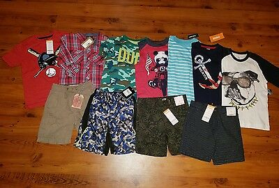 NWT Boys Spring / Summer Clothes Lot SIZE 5 / 5T Shorts S/S Shirts Brand Names