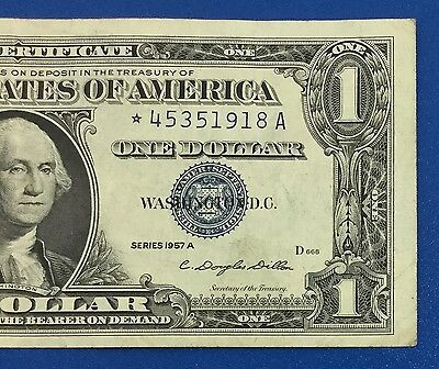 1957A $1 Blue Choice VF SILVER Certificate *** STAR *** X918 Old US Currency