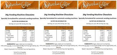 VENDING MACHINE Hot Chocolate 1Kg, 11% cocoa, Highest Quality