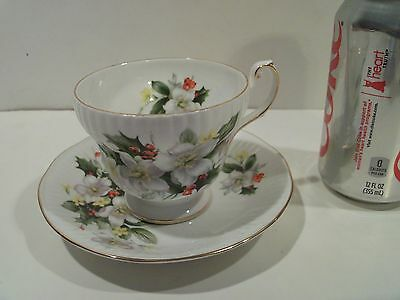 Nice Vintage Antique Queens Rosina Tea Cup And Saucer  Floral,made In England
