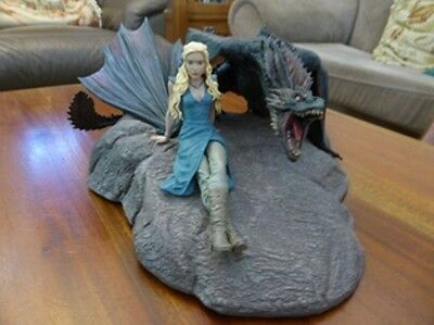 Game Of Thrones Daenerys And Drogon Statue Dark Horse Deluxe Large