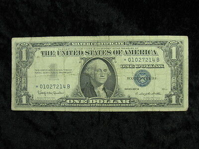1 old note lot UNITED STATES $1 dollar Silver Certificate Star Note 1957 B 214