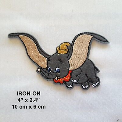 Flying Elephant Embroidered Iron-on Emblem Patch Applique