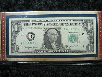 "1 old note lot UNITED STATES $1 dollar ""Barr"" 1963 B 454"