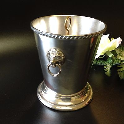 Vintage Quality Saracen Silverplate - 14cm Ice Bucket & Strainer - Over-Polished