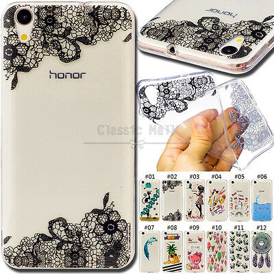 For Huawei Y6 II TPU Skin Protective Cover Back Fashion Soft Various Clear Case