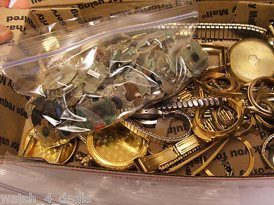 Rolled Gold, And Gold Plated Watch Parts For Reclaim, 703 Grams Nice Priced
