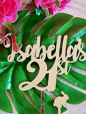 Isabella's 21st Cake Topper MADE IN AUSTRALIA  Personalised Names 21 twenty one