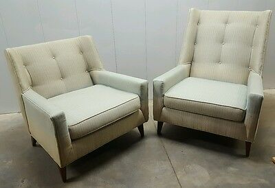 Matching Pair of His and Her Harvey Probber Club Chairs: Mid Century Modern