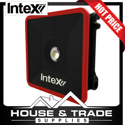 Intex LED Work Light Portable 2500 Lumens 30w Rechargeable USB Outlet SLB30