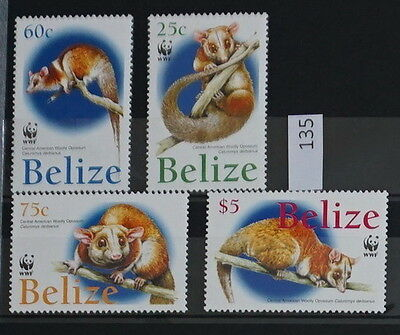 S0 0135 WWF Animals Belize MNH 2004 Opossum