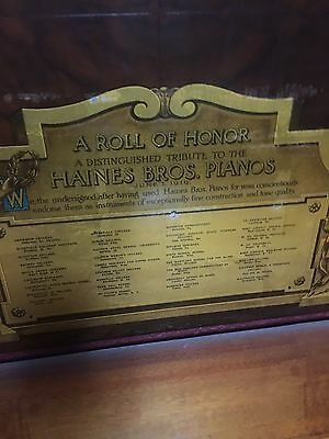 Antique Haines Brothers Upright Piano