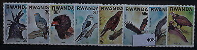 S0 0408 Birds Oiseau Vogel Rwanda MNH 1977 Birds of Prey