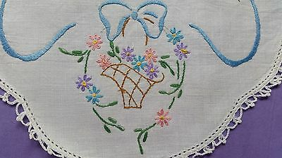 Vintage Hand Embroidered Doily - Lovely!!
