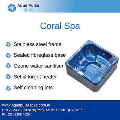 Coral Plug & Play 5 Seater Portable Indoor Outdoor Spa Pool / Hot Tub Jacuzzi