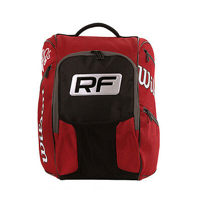 Wilson Federer Elite Tennis Backpack Black Gym/Badminton/Squash/Travel WRZ832696