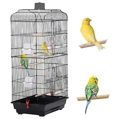 NEW XL Large Metal Bird Cage Budgie Canary Finch Parrot Cockatiel Birdcage