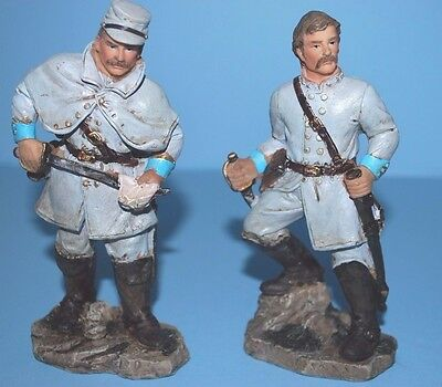 """Lot of 2 Plastic 5 1/2""""  Civil War Confederate Soldiers Toy"""