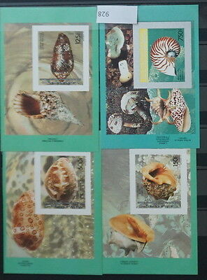 S0 0928 Fishes Poisson Fisch Comores MNH  Shells Imperforated Luxus