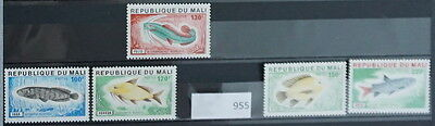 S0 0955 Fishes Poisson Fisch Mali MNH  Set of 5