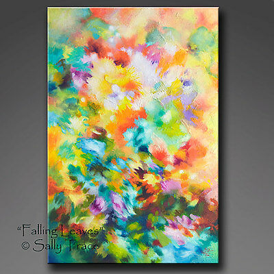 "Original Abstract Textured Impasto Painting on Canvas, 24x36"", large wall art"