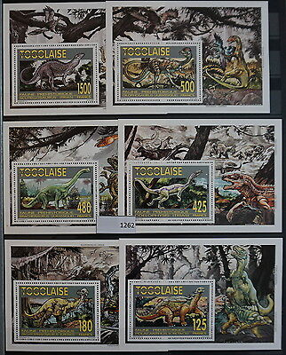 S0 1262 Dinosaurs Togo MNH 1994 Delux