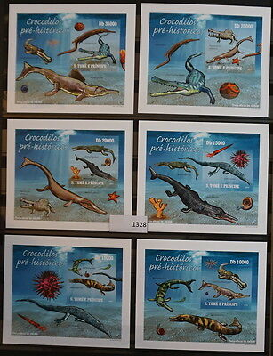 S0 1328 Sao Tome and Principe MNH  Water Dinosaurs Imperf Delux