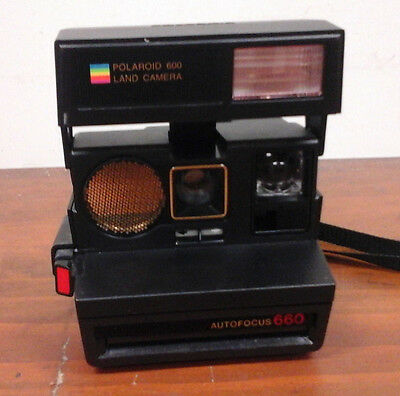 Polaroid 600 Land Camera with strap. Vintage, Collectable