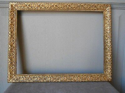 Antique french Gilded WOOD PLAQUE PEDIMENT FRAME