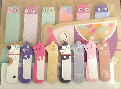 540 Owl Kitty Kitten Cat Animal Sticker Post-it Page Marker Memo Flags Index Tab
