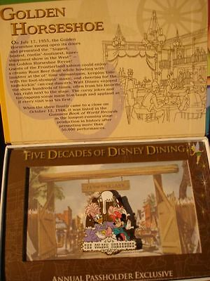 Disney Pin DLR A P Five Decades of Disney Dining Golden Horseshoe Daisy & Minnie