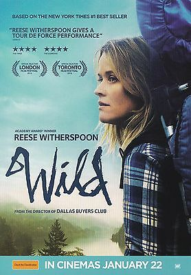 Promotional Movie Sheet - WILD (2014) ***Reese Witherspoon, Laura Dern***