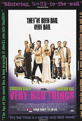 Promotional Movie Sheet - VERY BAD THINGS (1998) (Christian Slater, Peter Berg)