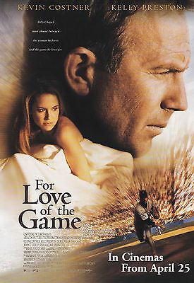 Promotional Movie Sheet - FOR THE LOVE OF THE GAME (1999) (Kevin Costner)